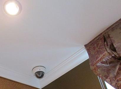 размещение купольной видеокамеры в углу